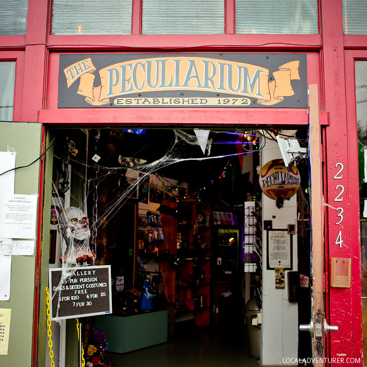 If you're looking for weird, you'll want to visit the Freakybuttrue Peculiarium and Museum in Portland Oregon // localadventurer.com