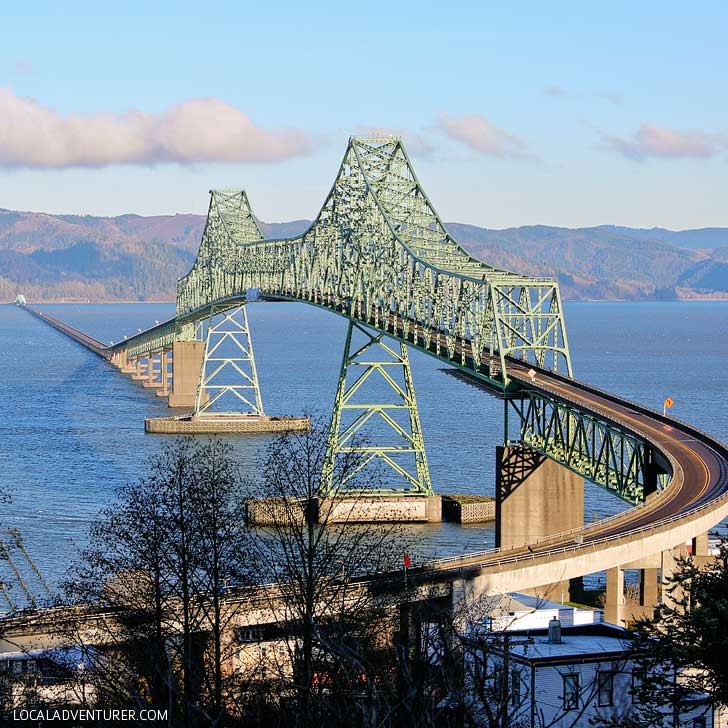 Astoria Megler Bridge is the longest continuous truss bridge in North America and rated one of the best photo spots along the Oregon coast // localadventurer.com