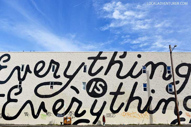 Everything is Everything Portland Mural for Forest for the Trees by Zach Yarrington + 25 Amazing Instagram Spots in Portland Oregon // localadventurer.com