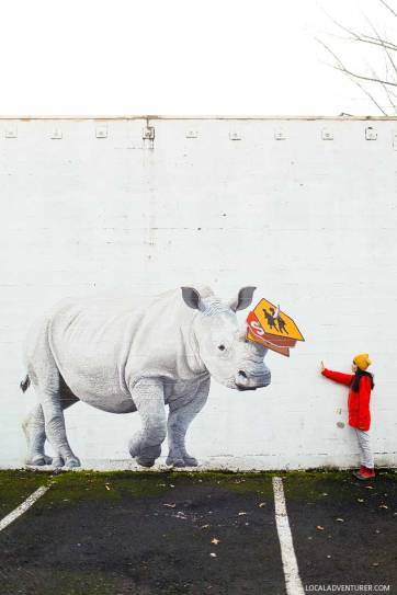 Josh Keyes Rhino Mural (25 Best Instagram Spots in Portland Oregon) // localadventurer.com