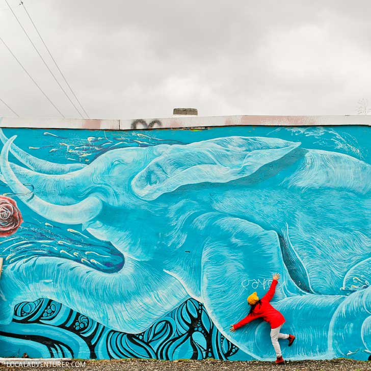 Pablo Garcia Elephant Mural + Guide to the Best Portland Murals // localadventurer.com