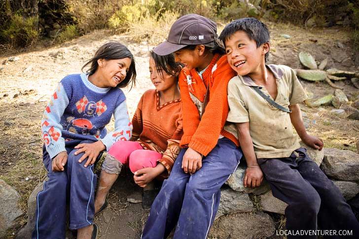 Local Kids on the Inka Trail Peru // localadventurer.com