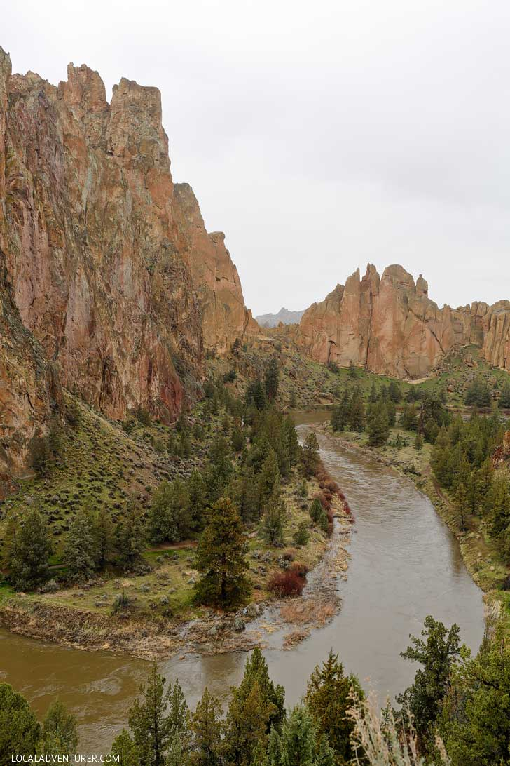 Views from the Bivy Campground - Smith Rock State Park camping is the ideal home base for rock climbing and hiking. Here's list of things to do at smith rock to help you plan your trip. // localadventurer.com