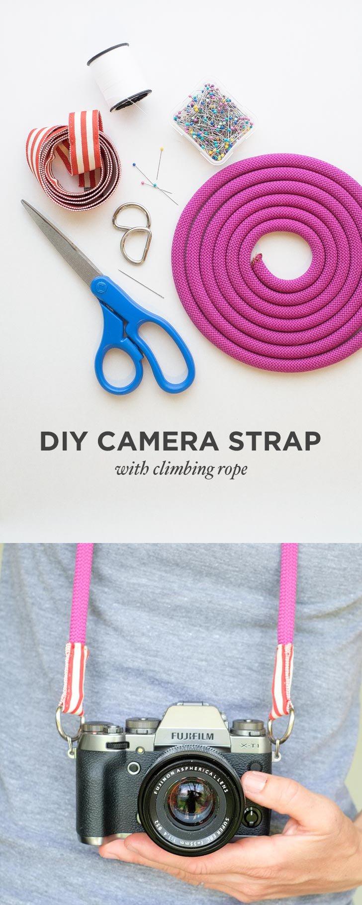 DIY Camera Strap with Climbing Rope Tutorial » Local ...