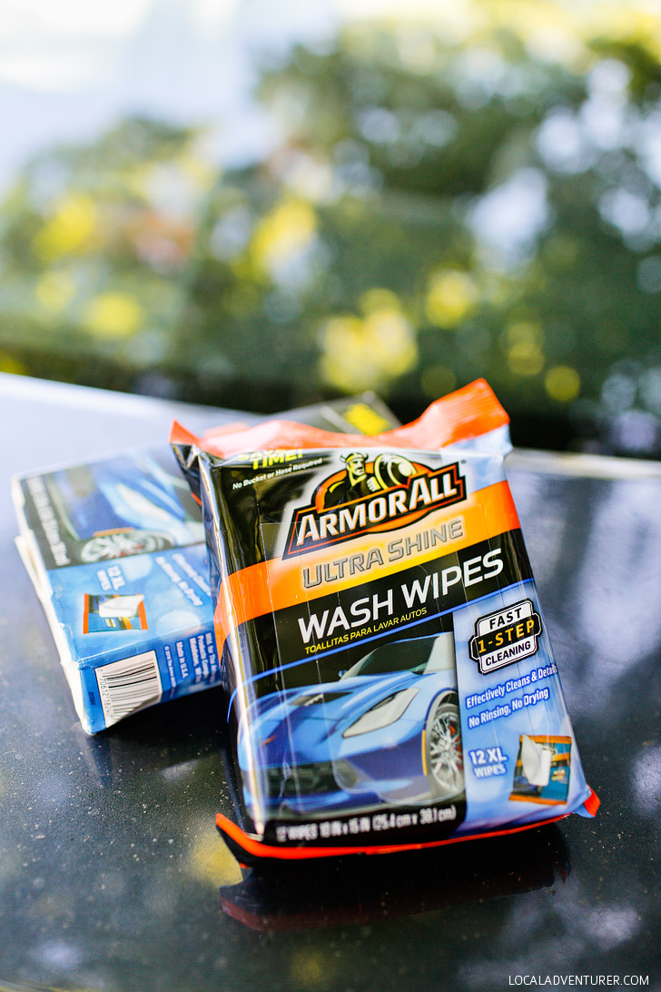 How to Clean Your Car on the Go with Armor All Wash Wipes (Review) // localadventurer.com