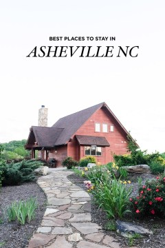 The Best Places to Stay in Asheville North Carolina - from luxury to glamping and budget options // localadventurer.com