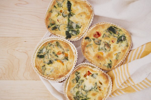 Kneaded Vegetable Medley Quiche 4 pack - Frozen