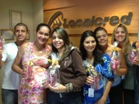 Danillo Souza, Rose Ane, Géscika, Kellia Nunes, Kellen e Samantha (premiados filial Goiânia)