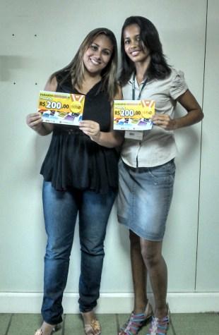 Jenifer Rayane Martins e Izadora da Silva (contempladas filial Vitória)