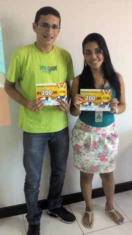 Ludson do Rosário e Jennifer Rodrigues (contemplados filial Vitória)