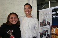 Claudia (recuperadora premiada) e Wanderson (coordenador)