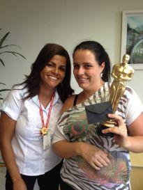 Alexandra Rodrigues (coordenadora Curitiba) e Angelica Baldi (estrela da filial Curitiba)