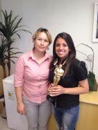 Solange Gabrieli (coordenadora filial Curitiba) e Marcella Logoboni (estrela da filial Curitiba)