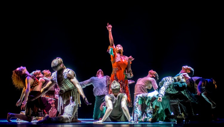 """""""Odetta"""" - Alvin Ailey American Dance Theater - Fri 24 Oct 2014 Kauffman Performing Arts Center. Photo,   copyright 2014 Mike Strong,   kcdance.com"""