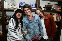 HUNTINGTON BEACH, CA - JULY 07: (L-R) Bungalow Huntington Beach co-owners Jen Rosero and Brent Bolthouse, and recording artist Brandon Boyd attend the Grand Opening of The Bungalow Huntington Beach at The Bungalow Huntington Beach on July 7, 2016 in Huntington Beach, California. (Photo by Matt Winkelmeyer/Getty Images for Bolthouse Productions)