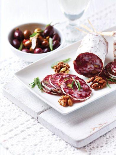 French Salami with Walnuts