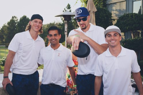 klay-thompson-joined-by-his-foursome-tony-panici-jeff-ledbetter-and-philipe-zarif-at-the-cocktail-party-and-awards-ceremony