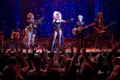 Hedwig & the Angry Inch Belasco Theatre Production Credits: Michael Mayer (Direction) Spencer Liff (Musical Staging) Julian Crouch (Scenic Design) Arianne Phillips (Costume Design) Kevin Adams (Lighting Design) Timothy O'Heir (Sound Design) Ethan Popp (Music Supervision) John Cameron Mitchell Lena Hall Other Credits: Lyrics by: Stephen Trask Music by: Stephen Trask Book by John Cameron Mitchell