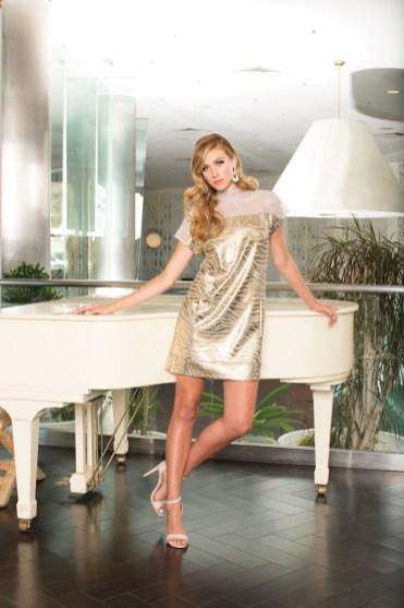 Dress: Tigress Lame Shift Dress