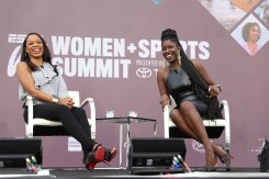 Newport Beach, CA - October 3, 2017 - The Resort at Pelican Hill: Cari Champion (l) with Bozoma Saint John during the 2017 espnW: Women + Sports Summit (Photo by Daniel Stark / ESPN Images)