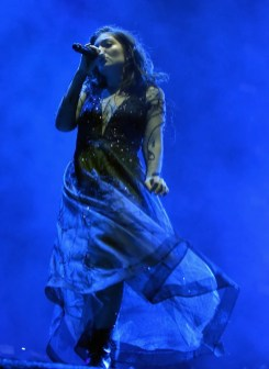 LAS VEGAS, NV - SEPTEMBER 22: Lorde performs on Downtown Stage during day 1 of the 2017 Life Is Beautiful Festival on September 22, 2017 in Las Vegas, Nevada. (Photo by Jeff Kravitz/FilmMagic )