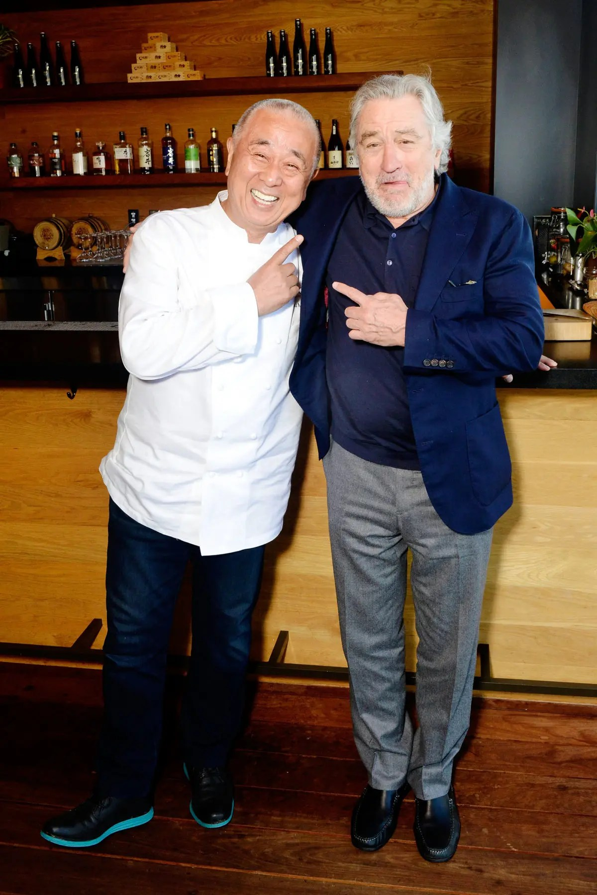 Nobu Matsuhisa and Robert De Niro at the Nobu Newport Beach Grand Cordon Bar