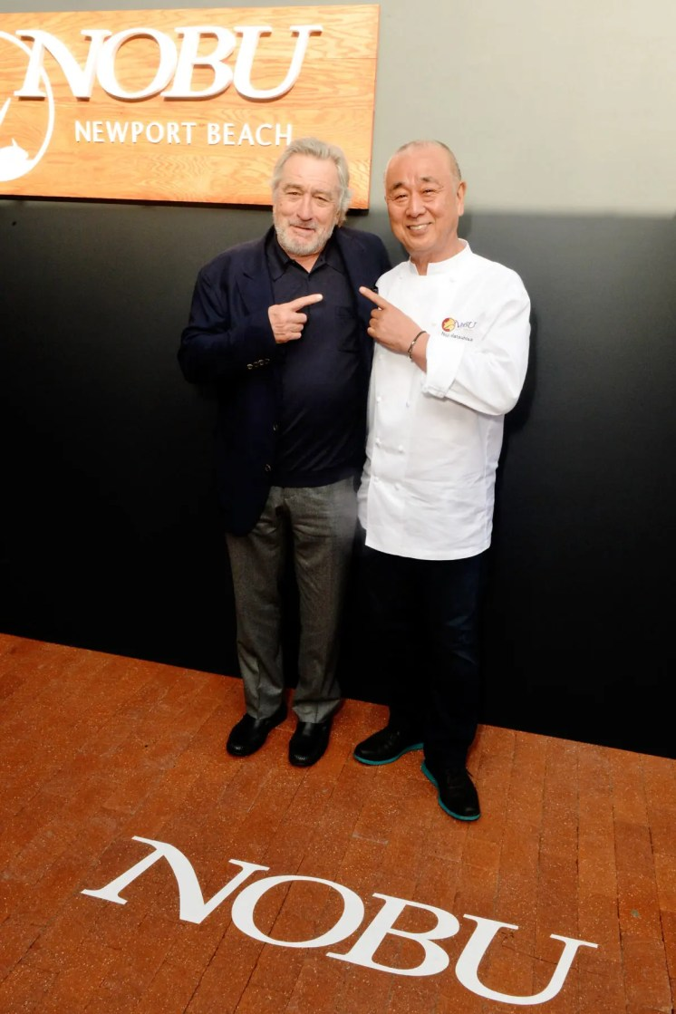 Nobu founders Robert De Niro Nobu Matsuhisa at the Nobu Newport Beach Sake Ceremony_entrances