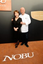 Yoko and Nobu Matsuhisa at the Nobu Newport Beach Sake Ceremony_entrances