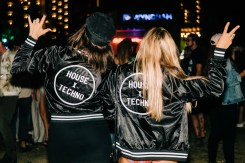MERCH MERCH MERCH! These cool House x Techno bomber jackets were just one of the many items you were able to purchase at the merch booth.