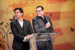 Actors John Stamos and Bob Saget, formerly of the show Full House, provided commentary on the live auction experiences at OC Chef's Table.