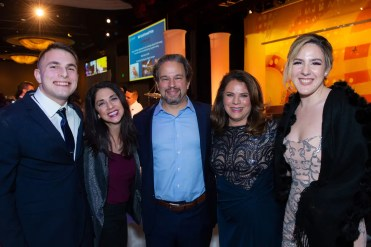 Pictured left to right, Dilan, Silva and Dr. Vicken Karageozian, Jacqueline Dupont-Carlson and Celine. Dilan and Celine were homeless as young children but experienced the congruent services and attention from Illumination Foundation's Children's Resource Center. They rose to the top of their classes, and each then earned a full-ride academic scholarship to the university of their choice, Penn State and Chapman University. respectively.