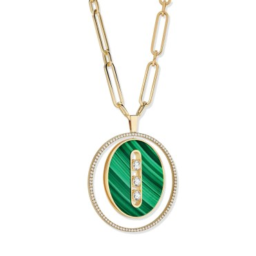 Leeds & Son_Messika Paris - Collier Sautoir Lucky Move GM Malachite 11273 3Q