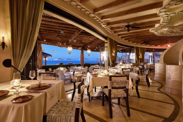 Don Manuel's Restaurant inside out at dusk, The Resort at Pedregal (2)