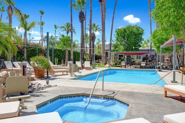 Desert Paradise Pool Spa area in Palm Springs California