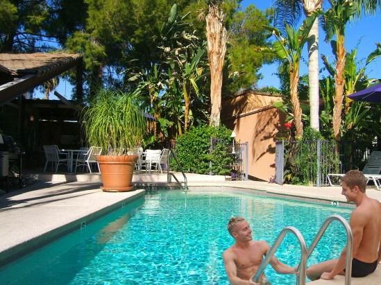 Triangle Inn Palm Springs. Mens clothing optional resort
