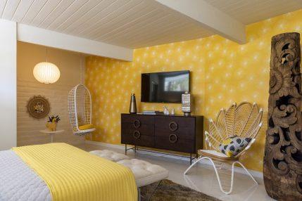 Modernism Week_Sunburst Palms Bedroom Interior Photo by David A Lee