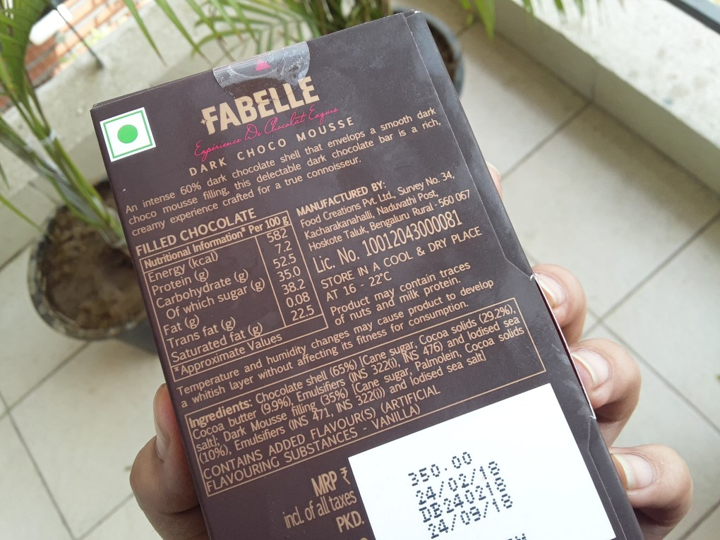 chocotarian fabelle ingredients