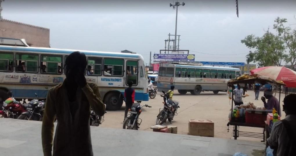 ferozepur jhirka village bus stand