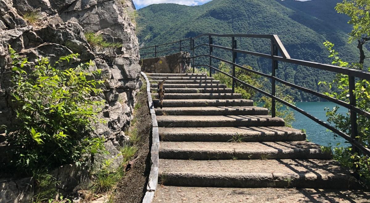 grandria to lugano switzerland trekking trail
