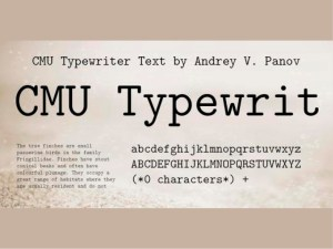 CMU Typewriter Text Computer Modern Typewriter