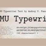 CMU Typewriter Text Computer Modern Typewriter