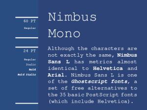 Nimbus Mono