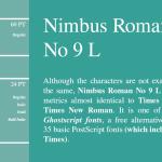 Nimbus Roman No 9 L