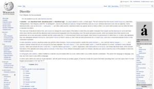 Wikipedia: Diacritics