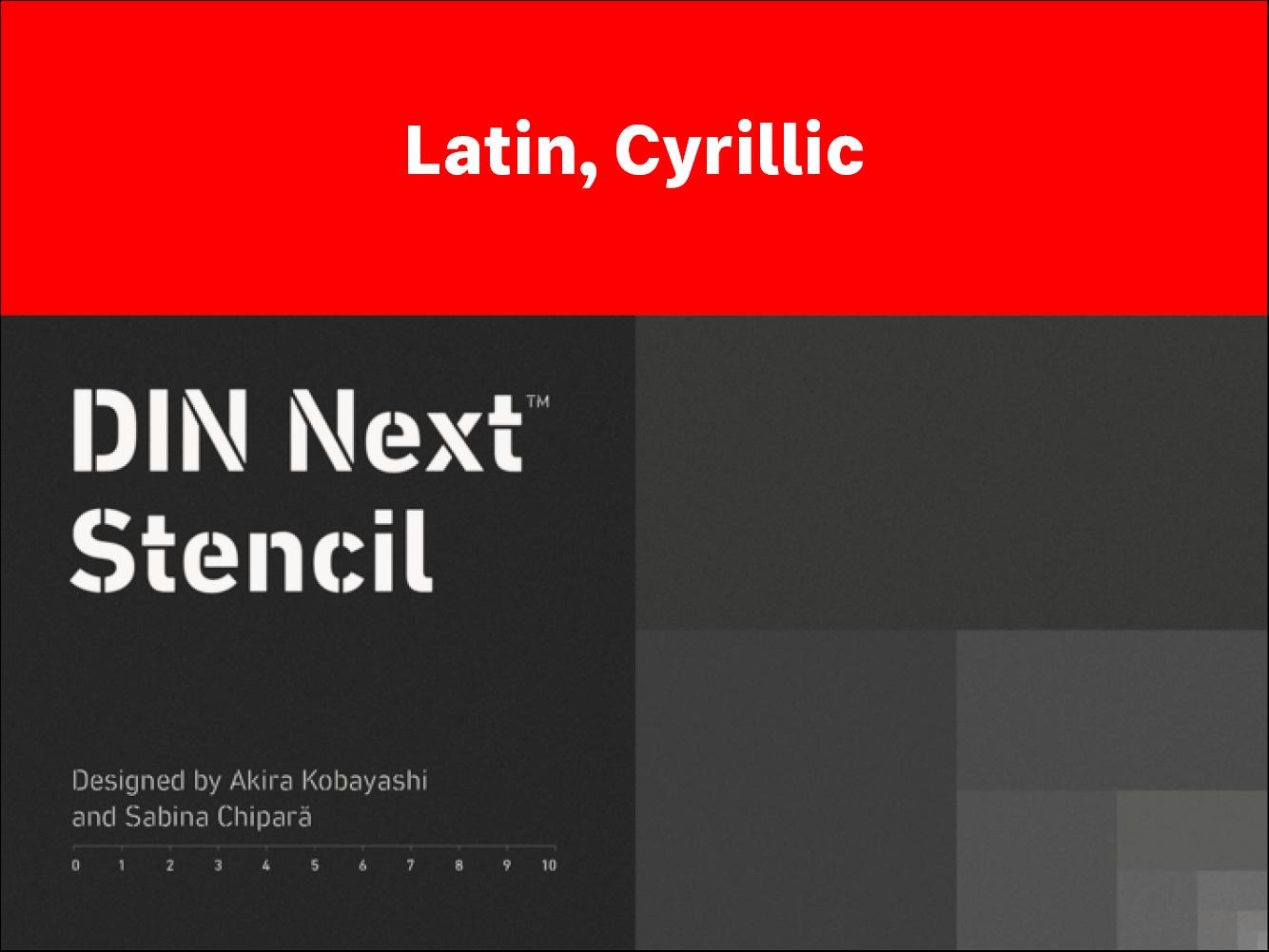 DIN Next™ Stencil