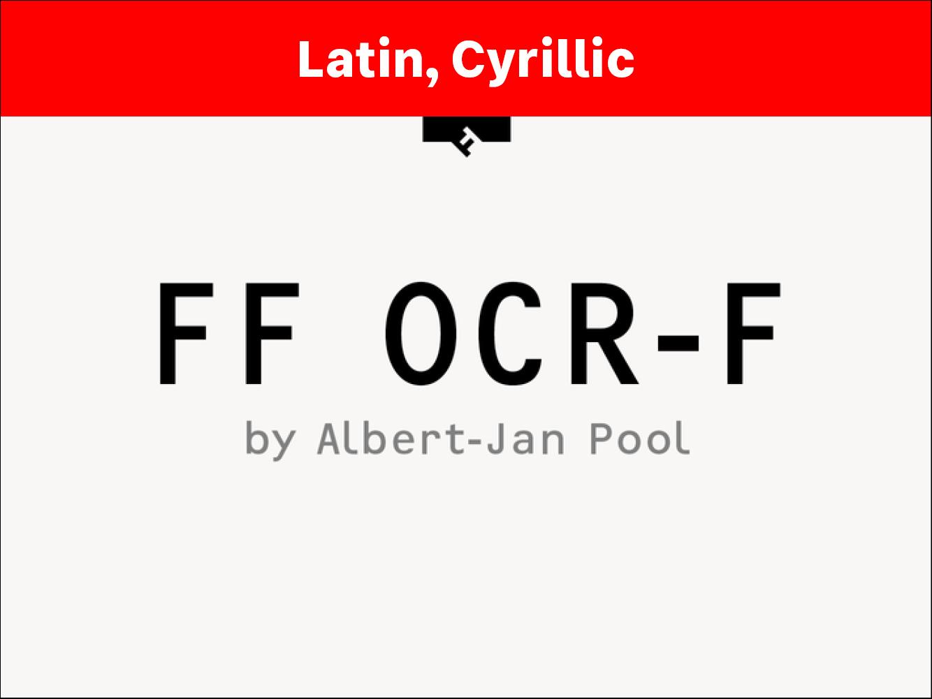 FF OCR-F