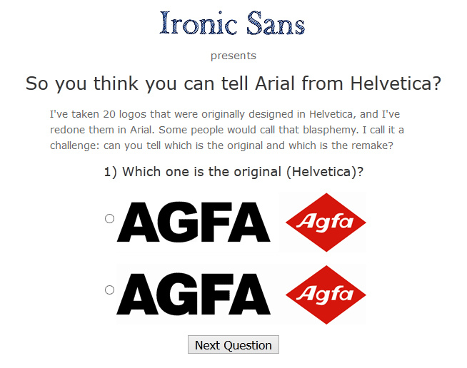 Ironic Sans