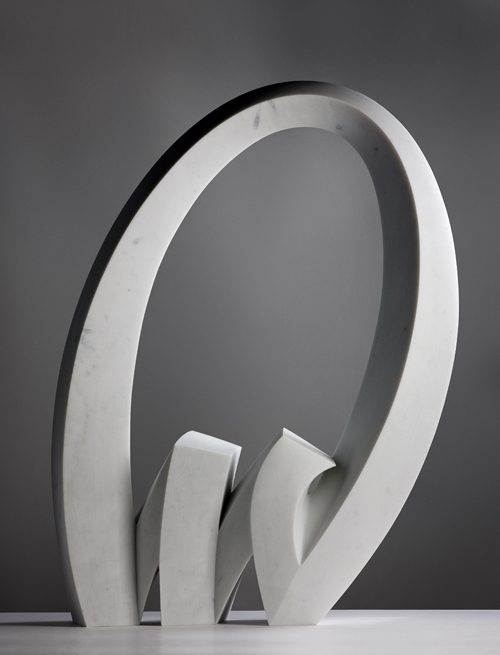 "Julia Vance   Tid means ""time"" n Norwegian.   Marble, 102 x 74 x22 xcm"
