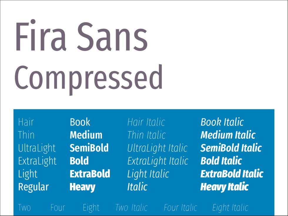 Fira Sans Compressed