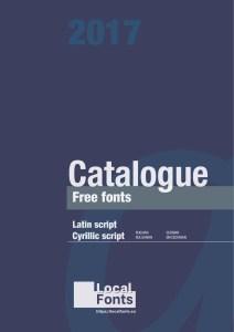 Catalogue Free Fonts